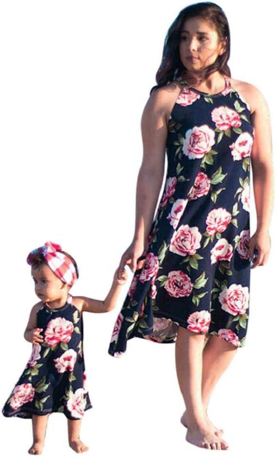 CANDLLY Mamá y Hijas Fiesta Vestidos Playa Vestidos de Flores ...