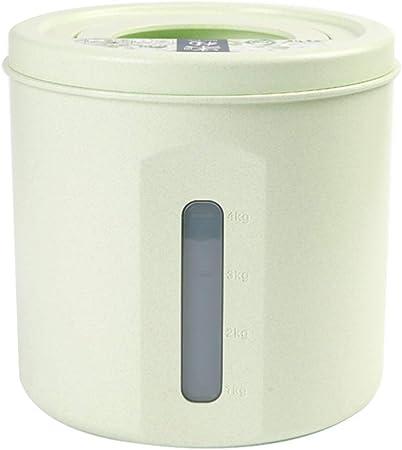 Jlxl Caja para Comida Animales, Grande 5kg Almacenamiento Cereal Perro Gato Food Caja Cocina Organizadores Marcado con Escala (Color : B): Amazon.es: Hogar
