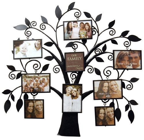 Metal Scroll Hall Tree - Haven Family Tree Metal Collage Frame