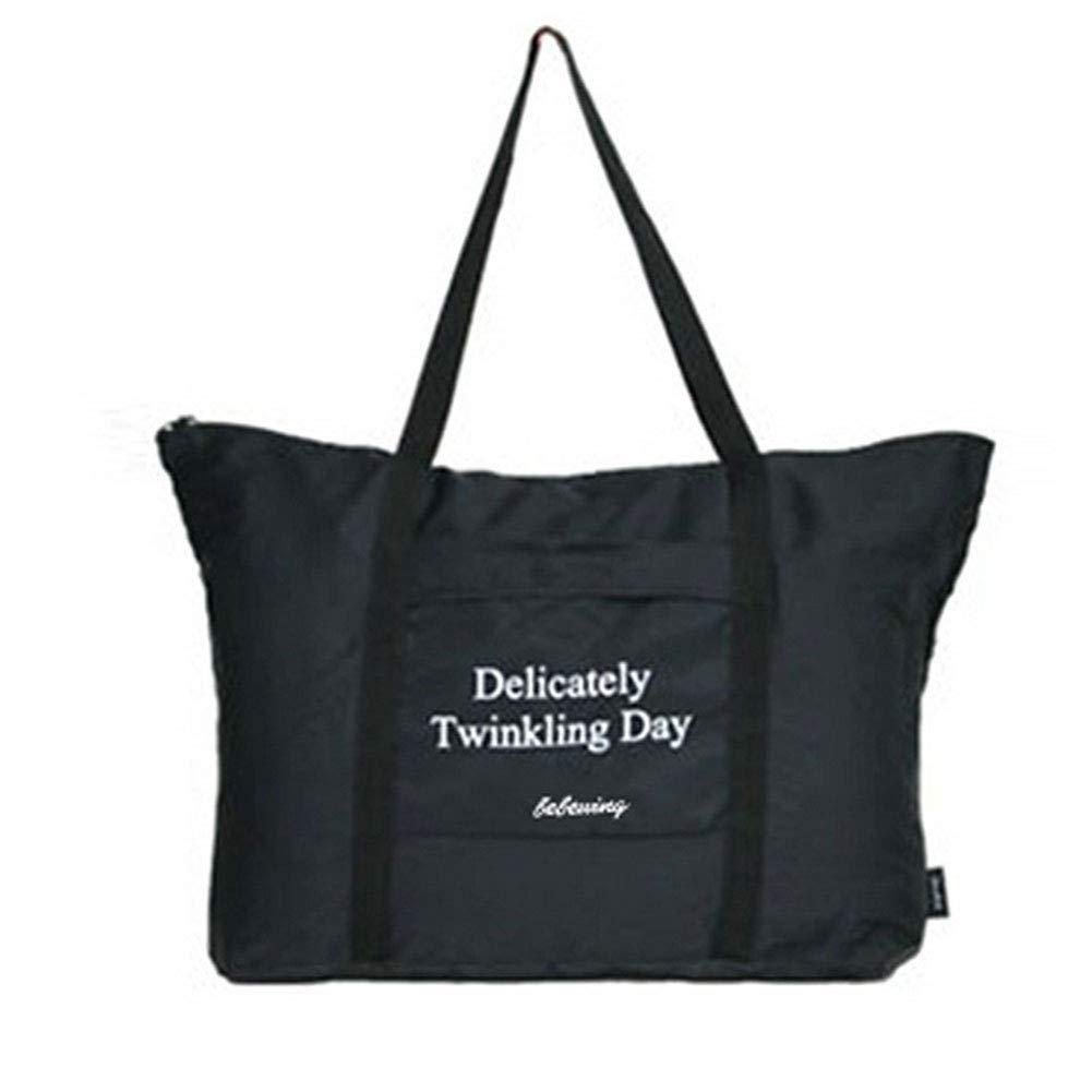 Naisicatar gro/ße Kapazit/äts-Nylon Stofftasche Praktische Rei/ßverschluss Reisetasche Multi Usage-Schulter-Strand-Tasche f/ür Outdoor Schwarz Einfach zu bedienen