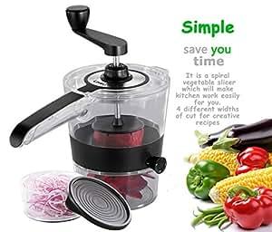 LoveU. Spiral Slicer - Kitchen Gadgets - 2015 New Design Compact 4 Blade - Spiral Vegetable Cutter