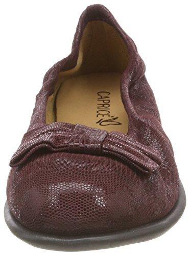 Bordeaux Caprice Ballerine 538 Delle rept 22117 Donne Rosso pqnZ4Ox