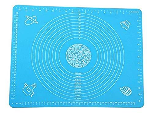 Work Fondant Mat - DYQWT Large Massive Pastry Fondant Silicone Work Rolling Baking Mat with Measurements GJD01,Blue