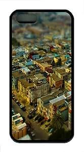 California San Francisco cityscapes TPU Silicone iPhone 5S/5 Case Back Cover - Black