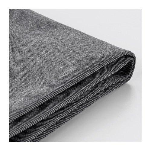 IKEA Cover for Ektorp Ottoman (footstool) Nordvalla Dark Gray (Slipcover Only) by IKEA