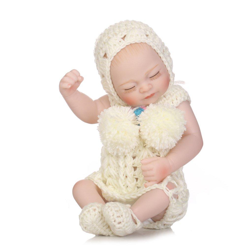 GUOHONG-CX Simulation Rebirth Puppe Silikon Nette Mini Wasser in in in Begleiten Baby Spielzeug Kinder Kreative Geschenk 27CM 914729