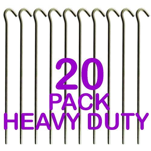 る通行料金ベンチPack of 20 - Heavy Duty Galavanised Steel Tent Pegs - Ideal For Use In Camping And Sporting