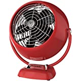 Vornado VFAN Jr. Vintage Air Circulator Fan, Red
