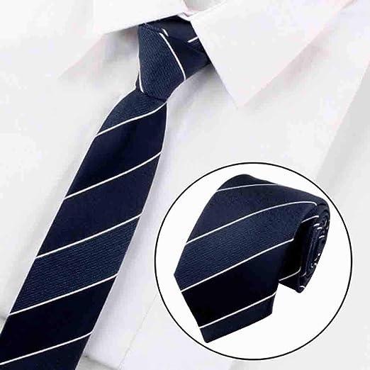 Hjyi Corbata de Vestir para Hombre, Corbata con Estampado de Rayas ...