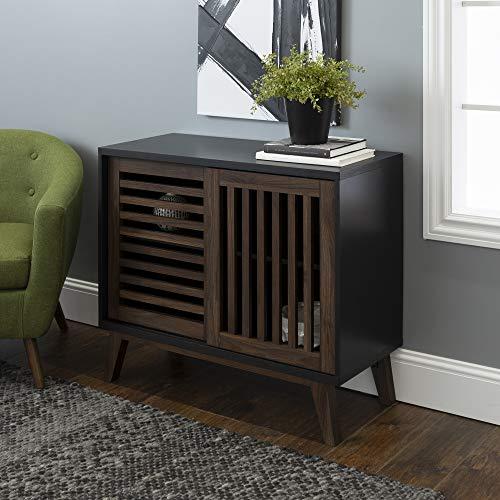 Modern Stand Tv Metal (WE Furniture AZ36SSDSB TV Stand 36