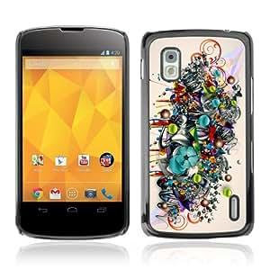 YOYOSHOP [Colorful Art Pattern Illustration] LG Google Nexus 4 Case