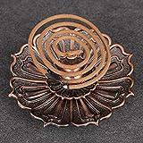 Sala-Houseware - Practical Useful Lotus Incense Burner Holder Flower Statue Censer Plate For Sticks And Cone Beautiful Decorative Copper Color