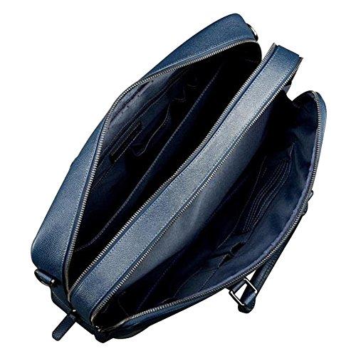 Fildens - Bolso al hombro de Piel para hombre azul marino