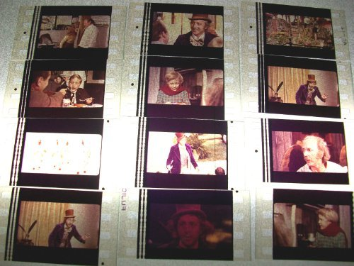 WILLY WONKA & THE CHOCOLATE FACTORY Lot of 12 35mm Movie Film Cells -