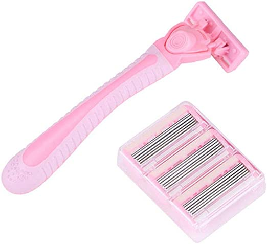 Mujeres desechable 6-Layers afeitadora Sharpen Blades Manual ...
