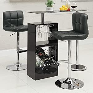 Coaster Home Furnishings CO- Bar Table W/Wine Storage, White