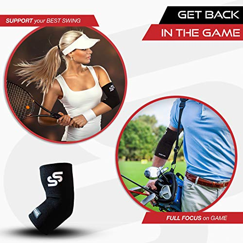 Sleeve Stars Elbow Brace for Tendonitis, Elbow Support and Protector for Pain, Arthritis & Bursitis - Compression Elbow Sleeve for Men & Women Small