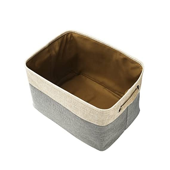 Foldable Convenient Storage Box Organizing Basket Closet Organizer with Handles, Cotton & Jute - Foldable basket size: 15x10.6x9.4 inch Features sturdy handles for easy transport, portable, lightweight and durable. The storage organizer material is Cotton & Jute, save on space when not in use and fold flat for easy storage . - living-room-decor, living-room, baskets-storage - 51xPfLXg9yL. SS570  -