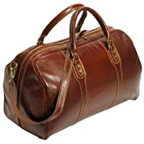 Cenzo Duffle Vecchio Brown Italian Leather Bag