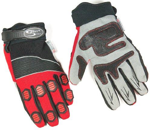 Sport DirectTM Bicycle Bike Glove Psycho Downhill/BMX Black/Red Small