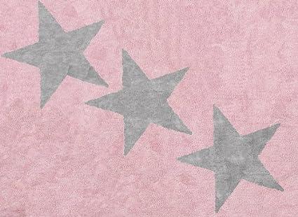 Tappeti Per Bambini Lavabili In Lavatrice : Aratextil europa tappeto per bambini cotone rosa grigio x