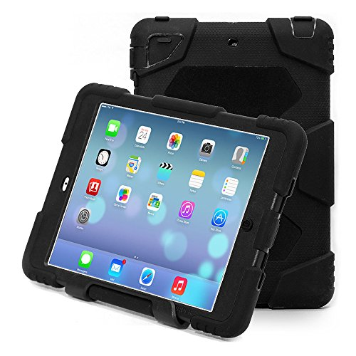 Ipad mini case,Aceguarder Apple Ipad Mini 1&2&3 Case Waterproof Rainproof Shockproof Kids Proof Case for Ipad Mini 2 Mini 1&2(gifts Outdoor Carabiner + Whistle + Handwritten Touch Pen) (BLACK)