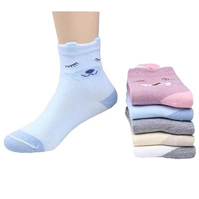 5 paires de chaussettes coton confortable enfants Cadeaux enfants Chaussettes confortables, 5-6 ans,chien