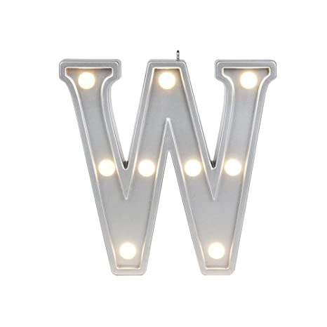W Up Letter | Small Letter W Marquee Led Night Light Sign Up Alphabet Lamp For