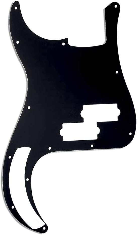 Musiclily 13 Hole P Bass Pickguard for Fender American//Mexican Standard Precision Bass,3Ply Parchment