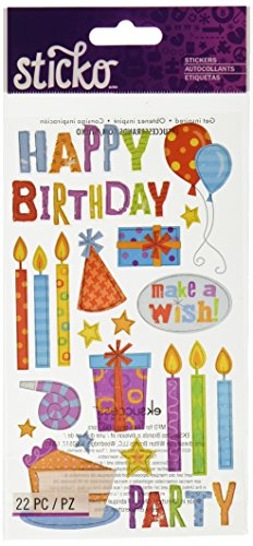 Happy Birthday Scrapbooking - Sticko Birthday Party Stickers