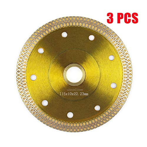 Tile Blade 4.5,Stylish Y&I Porcelain Blade Super Thin Ceramic Diamond Saw Blades for Grinder Dry or Wet Tile Cutter Disc With Adapter 7/8