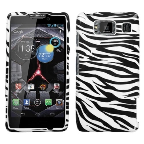 (MYBAT MOTXT926WHPCIM056NP Compact and Durable Protective Cover for Motorola Droid RAZR HD/Motorola Droid RAZR MAXX HD XT926 - 1 Pack - Retail Packaging - Zebra Skin)