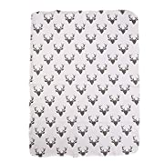 Soft Muslin Newborn Baby Blanket Bedding Blanket Wrap Swaddle Blanket Bath Towel (Deer print(No Headband))