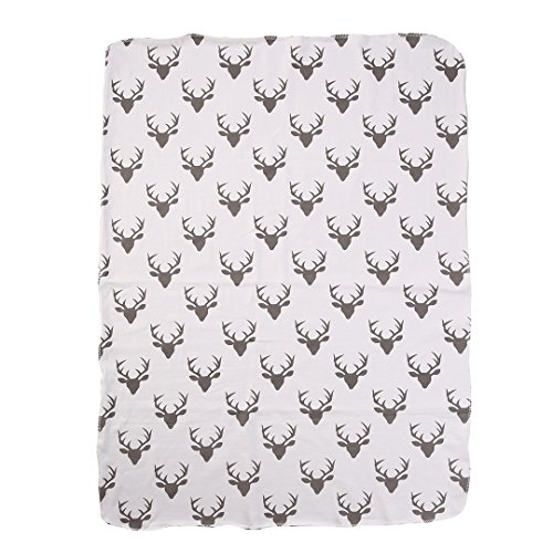Soft Muslin Newborn Baby Blanket Bedding Blanket Wrap Swaddle Blanket Bath Towel (Deer print(No (Deer Bath)