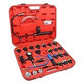 8milelake 28PCs Universal Radiator Pressure Tester Kit & Vacuum Type Cooling System Tool