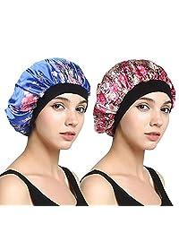 EINSKEY Sleep Cap for Women Satin Night Cap for Hair Protection - 2 Pack