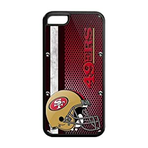The Newest NFL Helmet Design San Francisco 49ers Iphone 5C Rubber Case Hot Protection Cover