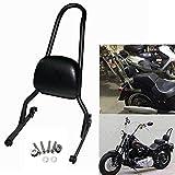 Black Motorcycle Detachable Backrest Sissy Bar For Harley Fatboy LO FLSTF Softail FXST FLST CVO