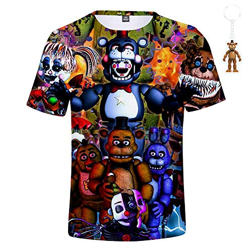8143694e God Sweet Boys 3D FNAF T Shirt Kids Active Sports Five Nights at Freddy's T-