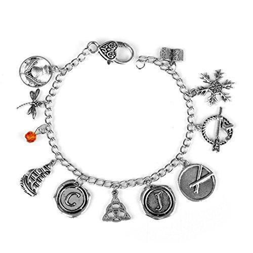 Outlander Charm Bracelet Scottish Thistle Dragonfly Sassenach Handmade Links Chain Wristlet Bracelets Bangles silver2
