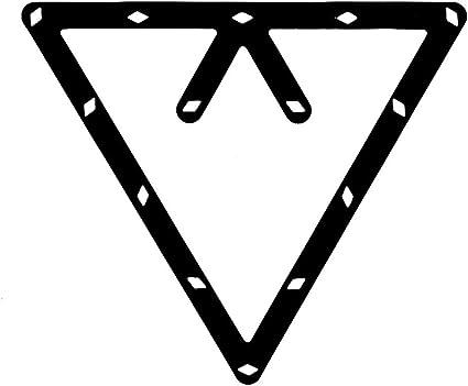 Tinksky 6/9/und 10/Ball Magic Rack Billard Pool Queue Zubeh/ör schwarz