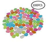 CFKJ [1000 Pcs 5lb] Glow in The Dark Stones,Fish Tank Aquarium Decoration Gravel Rocks,Garden Glowing Pebbles Luminous Stones for Outdoor,Yard Grass,Walkway,Backyard Driveway Décor
