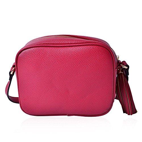 Tassels Crossbody Shoulder Crossbody Strap and Bag Bag Adjustable Burgundy with naTpTIFx
