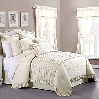 Image of Home and Kitchen Amrapur Overseas Antonella Sand 24-Piece Comforter Set, Queen