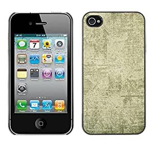 For iPhone 4 / 4S - Beige Plaster Texture Pattern /Modelo de la piel protectora de la cubierta del caso/ - Super Marley Shop -