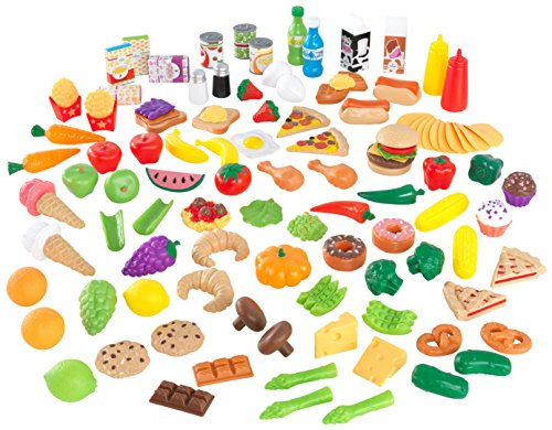 KidKraft Tasty Treats Play Food Set (115 Pieces) (Food Vegan Play)