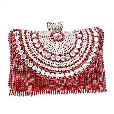 Las mujeres evento formal de poliéster/Partido Bolsa de noche de bodas bolsos,Embrague rojo Red