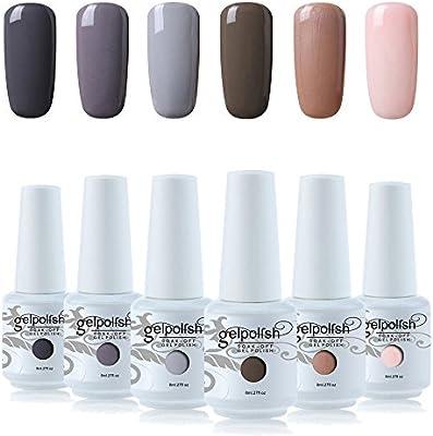 Vishine Nail Gel Polish Kit 6pcs Uv Led Soak Off Gel Nail Polish High Gloss Nail Art Manicure Gift Set Amazon Com Au Beauty