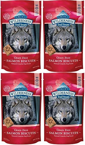 Blue Buffalo Wilderness Trail Treats Grain Free Salmon Biscuits Dog Treats 40 OZ Made in USA