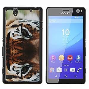 Salvajes ojos grandes de Bosque- Metal de aluminio y de plástico duro Caja del teléfono - Negro - Sony Xperia C4 E5303 E5306 E5353